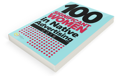 Preview of the e-book 100 significant women in native advertising