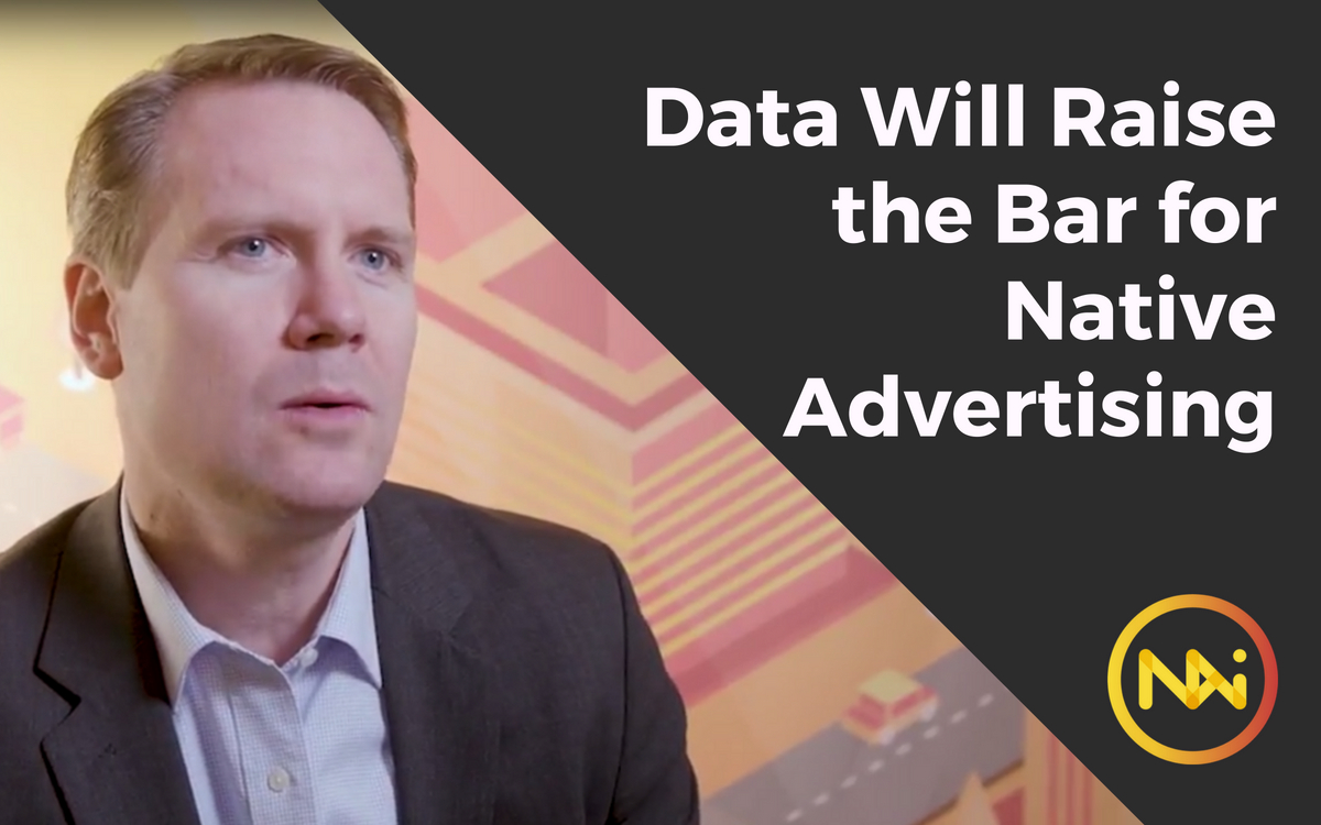 Image of David Landes with the title Storytelling Based on Data Will Raise the Bar for Native Advertising