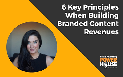 Image of Joanna Carrigan with the title 6 key principles when building branded content revenues