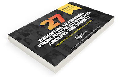 Preview of the e-book 27 Essential Learnings from Leading Native Ad Studios
